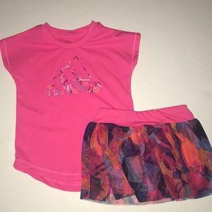 Adidas pink top and bottom